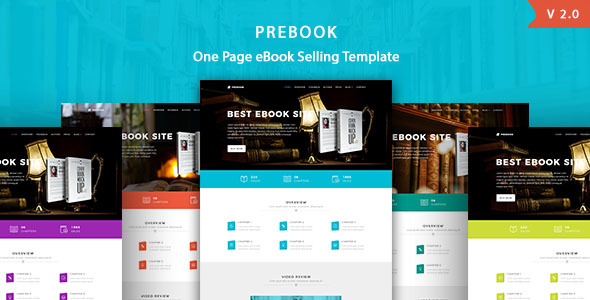 Prebook - eBook Landing Page HTML5 Template - Marketing Corporate