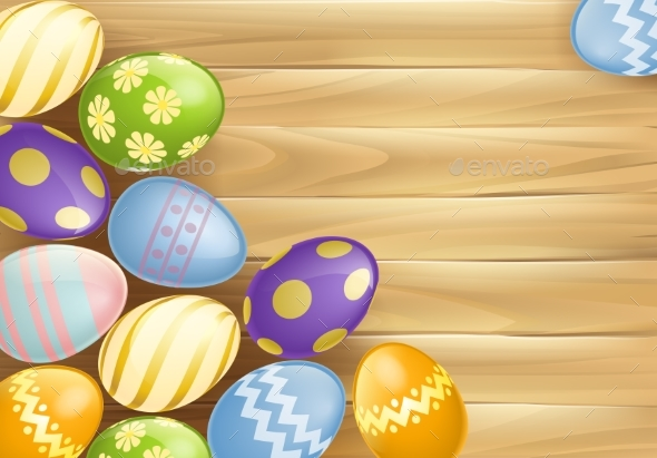 Easter Eggs Background - Backgrounds Decorative