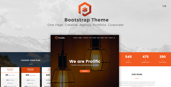 Prolific – One Page Bootstrap Template