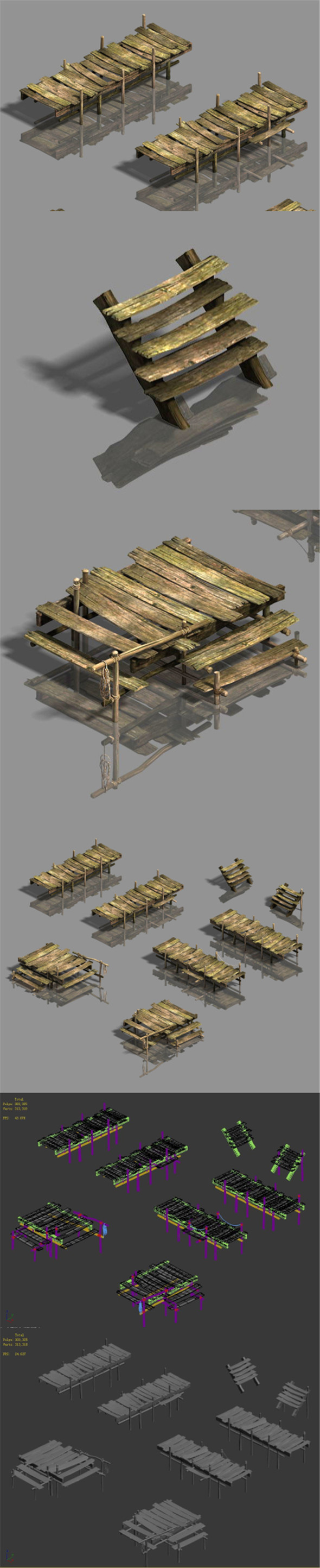 Medium city - wooden bridge - 3DOcean Item for Sale