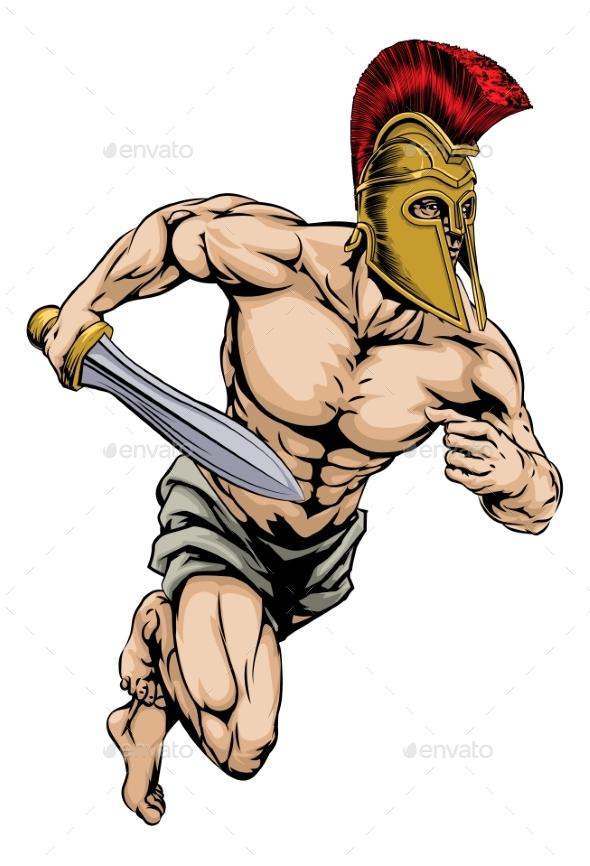 Gladiator Mascot - Sports/Activity Conceptual