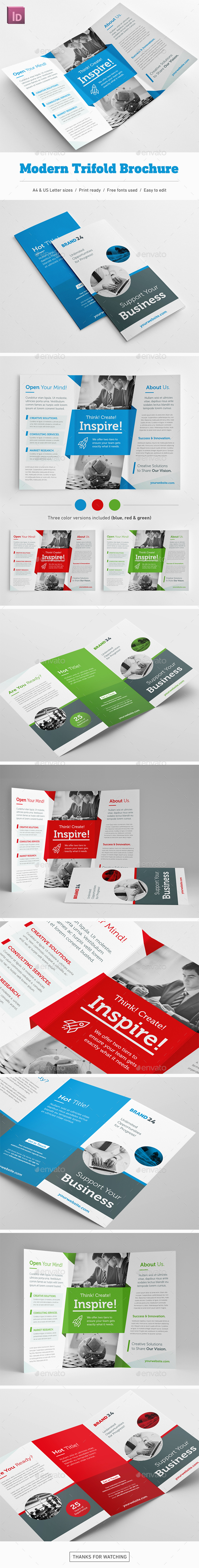 Modern Trifold Brochure - Corporate Brochures