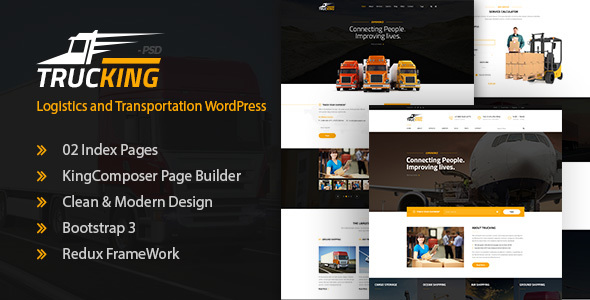 Trucking – Logistics and Transportation WordPress Theme