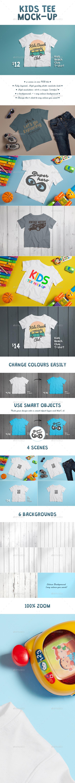 Kids T-shirt Mock-up - T-shirts Apparel