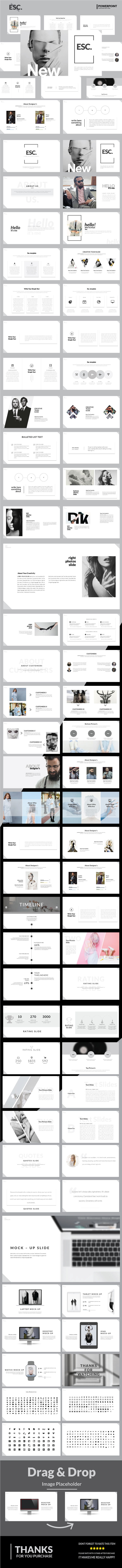 Esc - Minimal Multipurpose Presentation Template - PowerPoint Templates Presentation Templates
