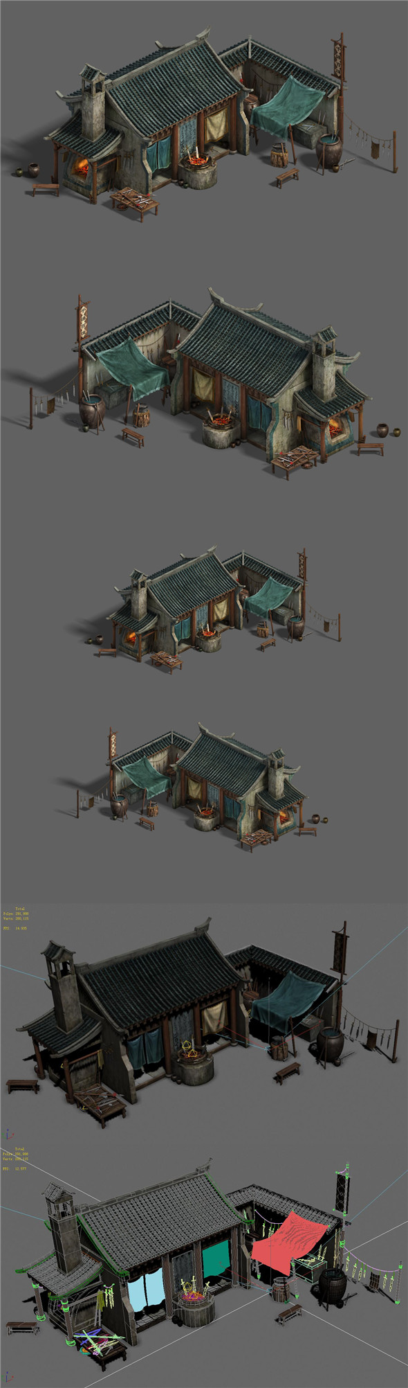 Medium city - blacksmith shop - 3DOcean Item for Sale