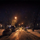 Residential Area In Heavy Snowfall At Night - VideoHive Item for Sale