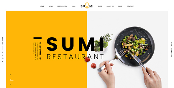 Image of Sumi Restaurant HTML Template