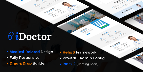 iDoctor – Responsive & Multipurpose Medical Joomla Template
