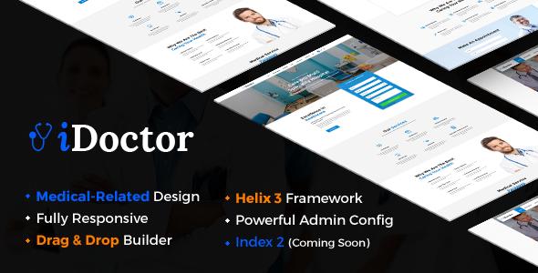 iDoctor – Responsive & Multipurpose Medical Joomla Template