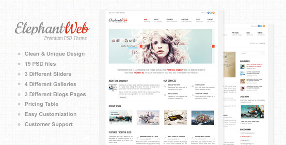 Free Download Elephant Web - Premium PSD Template Nulled Latest Version