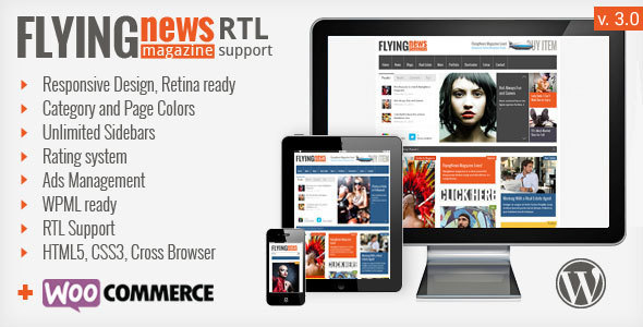 FlyingNews - Responsive Magazine Theme - Blog / Magazine WordPress