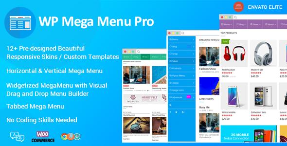 WP Mega Menu Pro - Responsive Mega Menu Plugin for WordPress - CodeCanyon Item for Sale