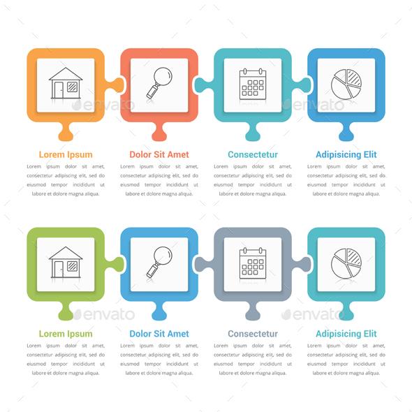 Puzzle Infographics - Infographics