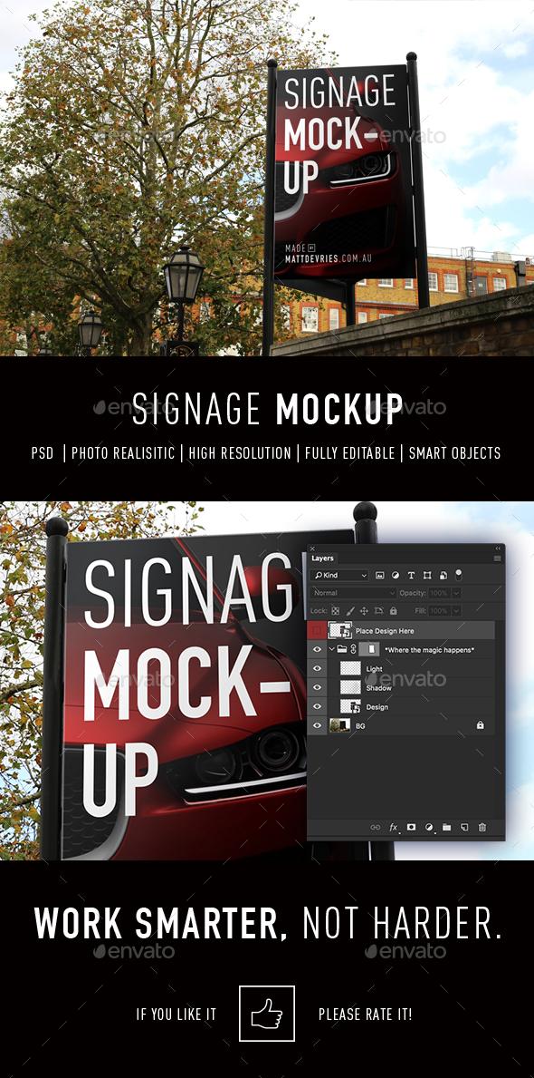 Smart Signage Mockup - Signage Print