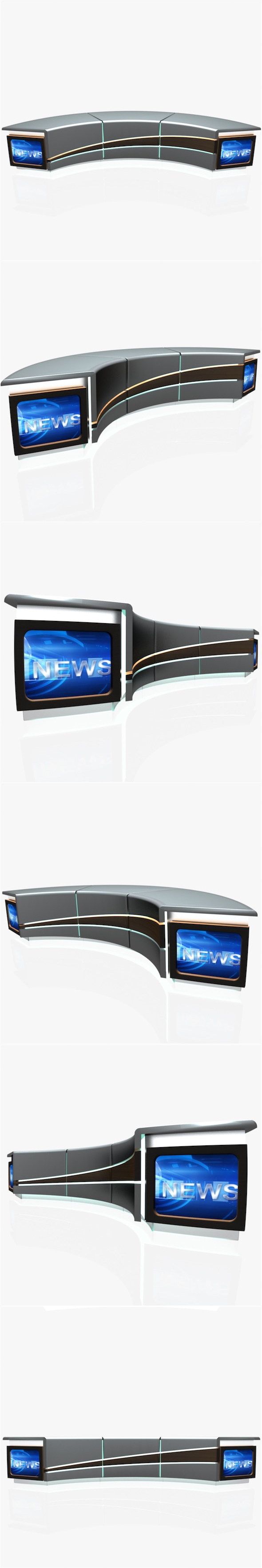 Tv Studio News Desk 004 - 3DOcean Item for Sale