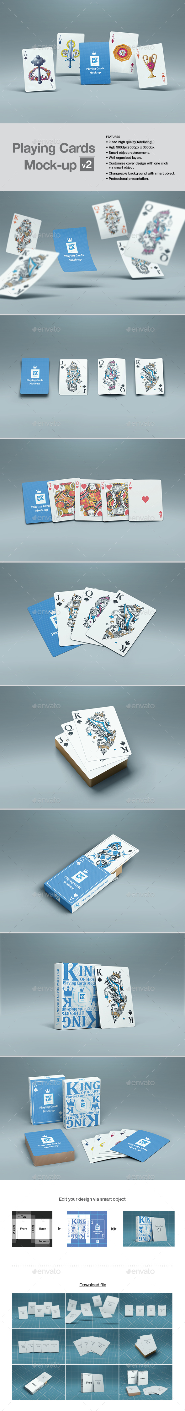 Playing Cards Mock-up v2 - Print Product Mock-Ups