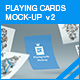 Playing Cards Mock-up v2 - GraphicRiver Item for Sale