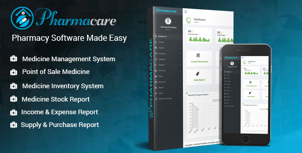 Pharmacare - Pharmacy Software Made Easy - CodeCanyon Item for Sale