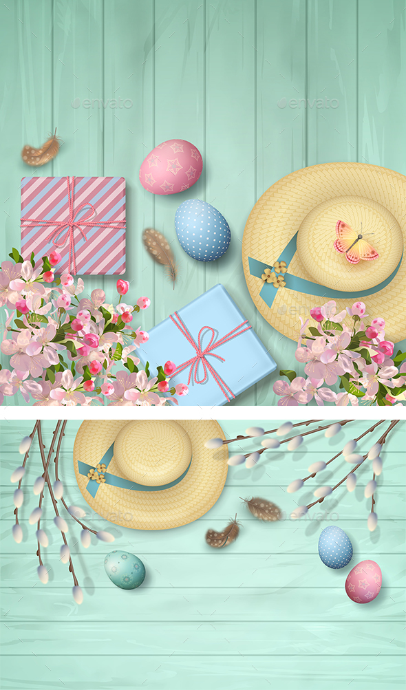 Easter Top View Background - Seasons/Holidays Conceptual
