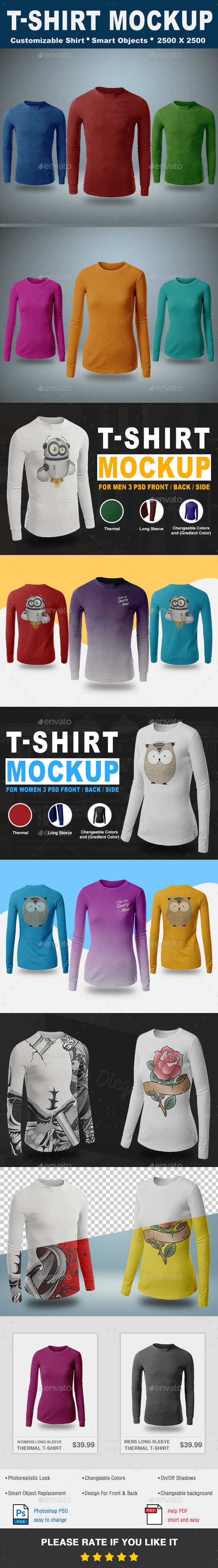 Thermal T-Shirt Mockup Vol.2 - T-shirts Apparel