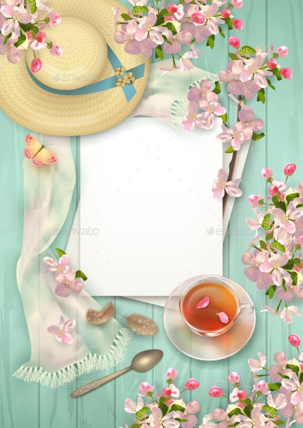 Spring Top View Background - Seasons/Holidays Conceptual