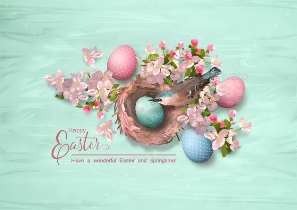 Easter Bird and Nest - Religion Conceptual