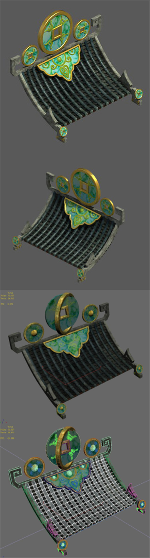 Chinese architecture - coin roof - 3DOcean Item for Sale