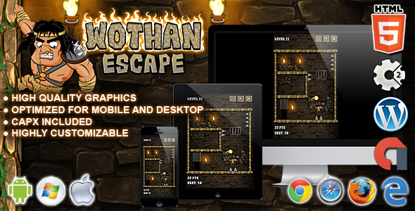 Wothan Escape - HTML5 Construct 2 Skill Game - CodeCanyon Item for Sale