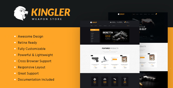 Kingler | Weapon Store & Gun Training Template