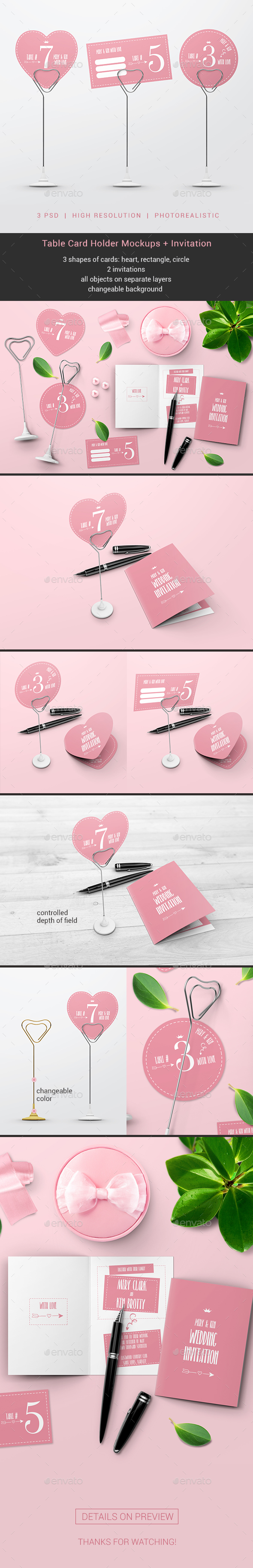 Table Card Holder Mockups - Miscellaneous Print