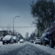 Snowy Road With Cars Passing In Winter - VideoHive Item for Sale
