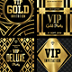 Gold Flyer Set / Gold Invitation - GraphicRiver Item for Sale