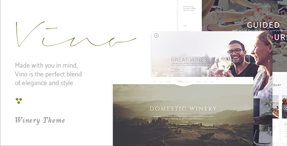 Image of Vino - A Refined Winery, Wine Bar and Vineyard Theme