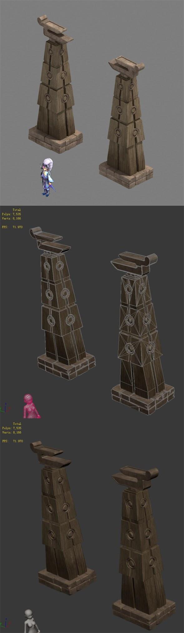 Religion - decorative pillars - 3DOcean Item for Sale