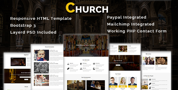 CHURCH - Multipurpose Responsive HTML Template