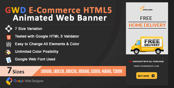 GWD E-Commerce HTML5 Animated Web Banner - CodeCanyon Item for Sale