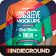 Men Long Sleeve T-Shirt Mockups - GraphicRiver Item for Sale