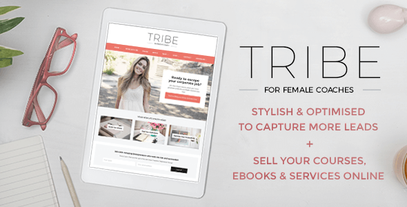 Image of Tribe Coach - Feminine Coaching Business WordPress Theme