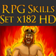 182 RPG Skills Icons Collection - GraphicRiver Item for Sale