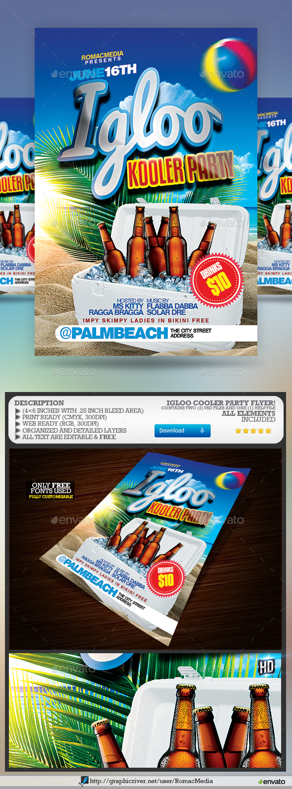 Igloo Cooler Party Flyer - Clubs & Parties Events
