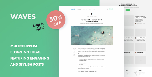 Waves – Community Blogging Theme