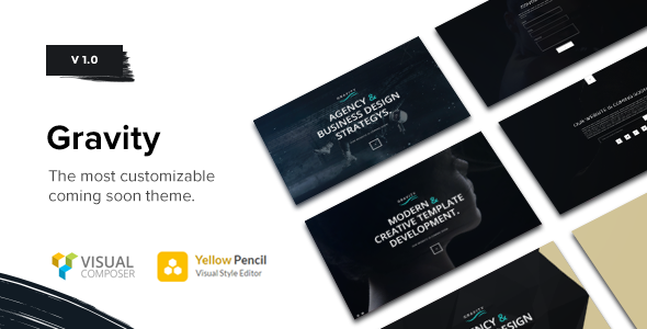 ThemeForest Gravity Multi-Purpose Coming Soon Theme 19758632