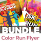 Color Run Festival Flyers Bundle