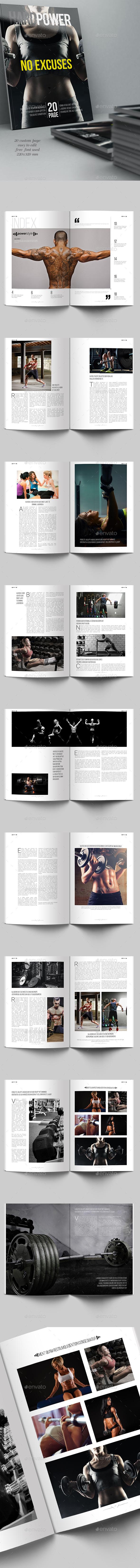 Hard Power Magazine Template - Magazines Print Templates