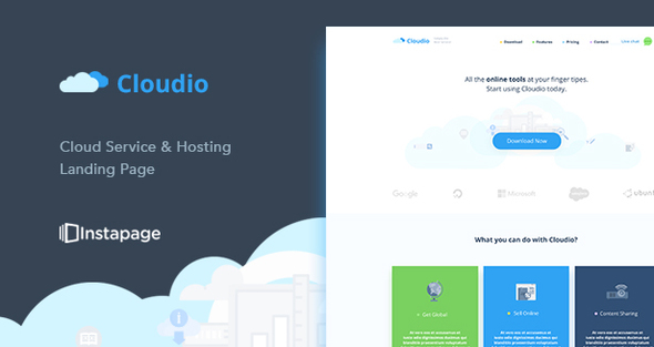 Cloudio Hosting Instapage Template - Instapage Marketing