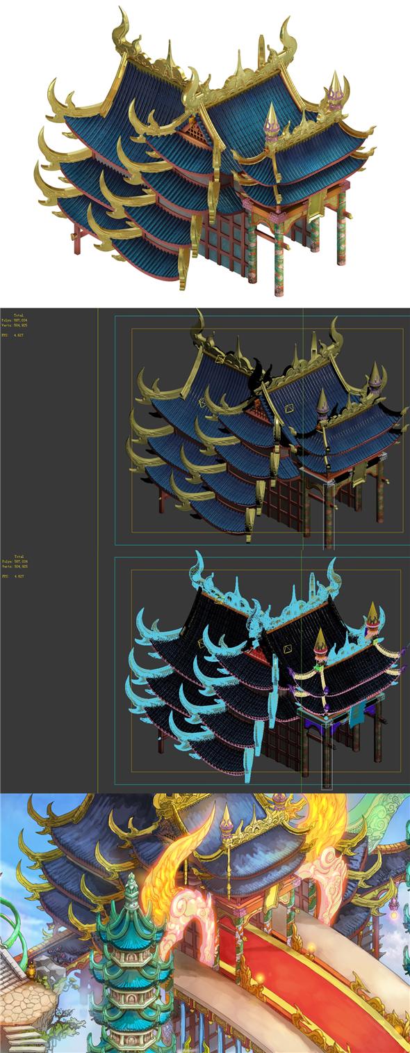 Game model - Bi La City - Royal Palace 02 - 3DOcean Item for Sale