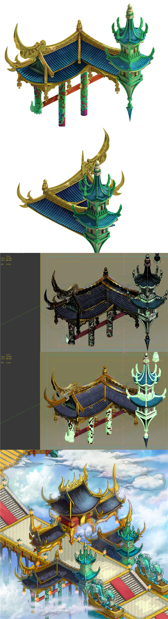 Game model - Bi La City - Royal palace part - 3DOcean Item for Sale