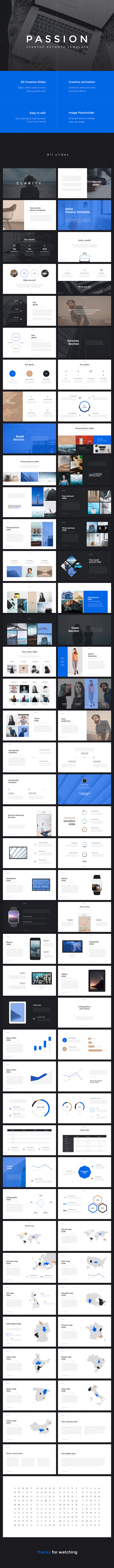 Passion Startup Keynote Template - Keynote Templates Presentation Templates