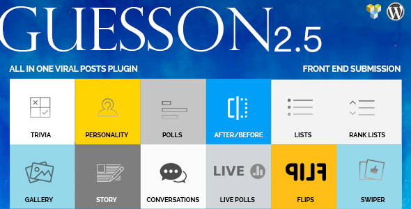 GuessOn - All in one Viral Quiz & Polls -Wordpress - CodeCanyon Item for Sale